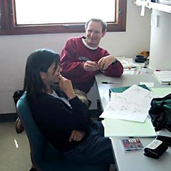 Stephen and Renee in the Office
